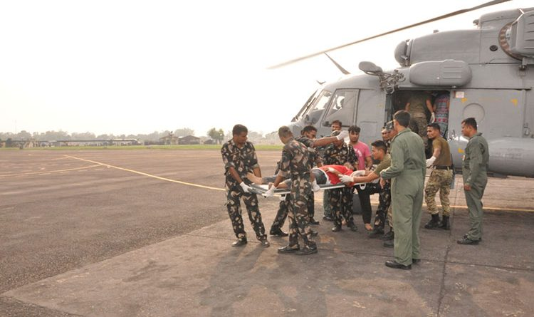Casualty evacuation by Indian Air Force helicopters