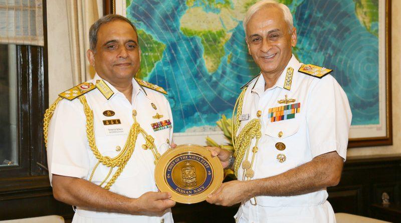 Bangladesh Navy Chief, Admiral Nizamuddin Ahmed Visits India