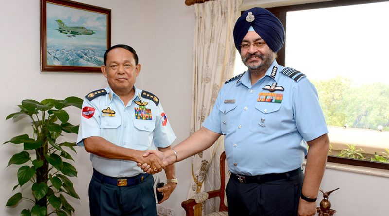 Air Chief Marshal Dhanoa meets Myanmar's General Khin Aung Myint