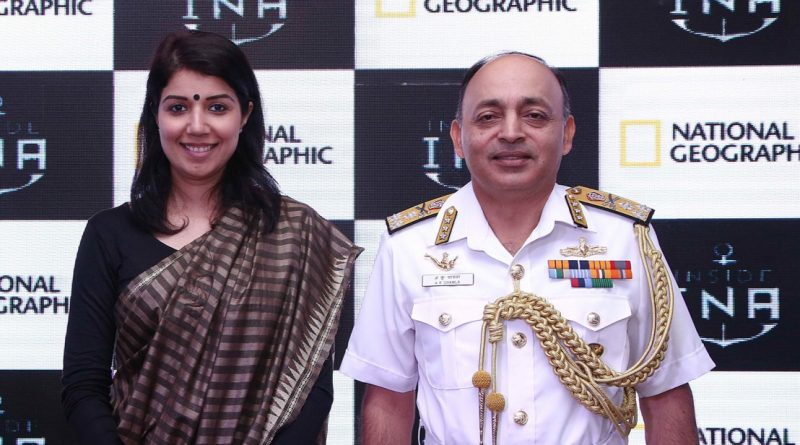 Nat Geo Exclusive Inside INA Launch- Shruti Takulia, Saurabh Baid, Senior Executive Producer, National Geographic, Swati Mohan, Business Head, National Geographic & Fox Networks Group, India, Vice Admiral AK Chawla Chief of Personnel, Indian Navy