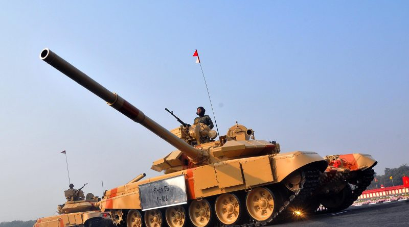 T 90S Tank at the Army Day Parade