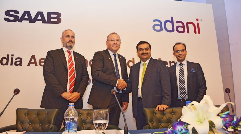Adani and Saab to Collaborate For Aerospace and Defence in India