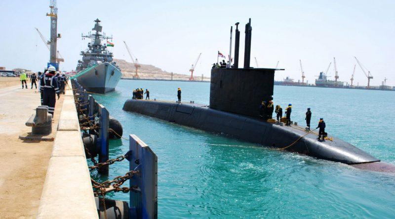 Indian Naval Ship Mumbai and submarine Shishumar