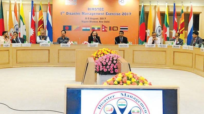 India to Conduct First 'BIMSTEC Disaster Management Exercise - 2017