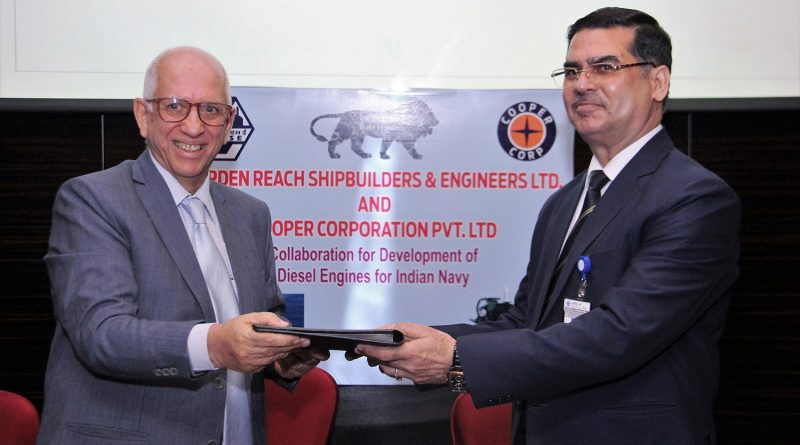 Cooper Corporation signs MoU with GRSE for Development of Diesel Engines for Indian Navy & Coast Guard