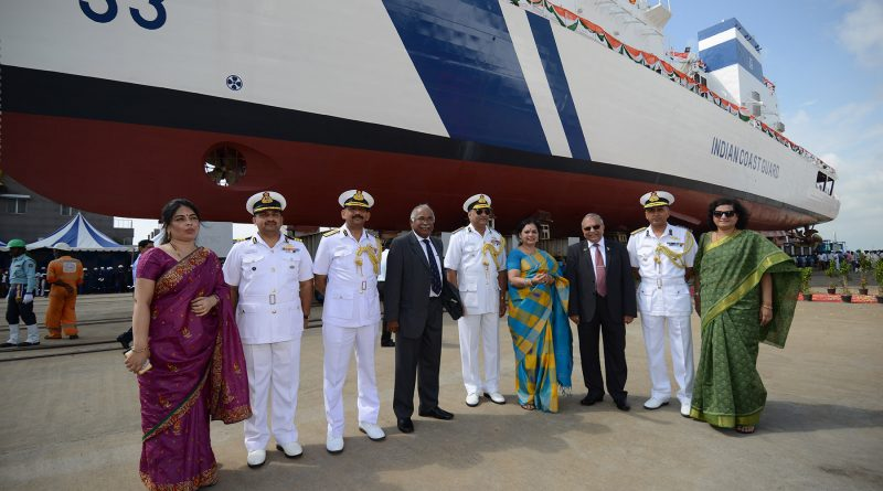 Larsen & Toubro Launches Offshore Patrol Vessel for Indian Coast Guard