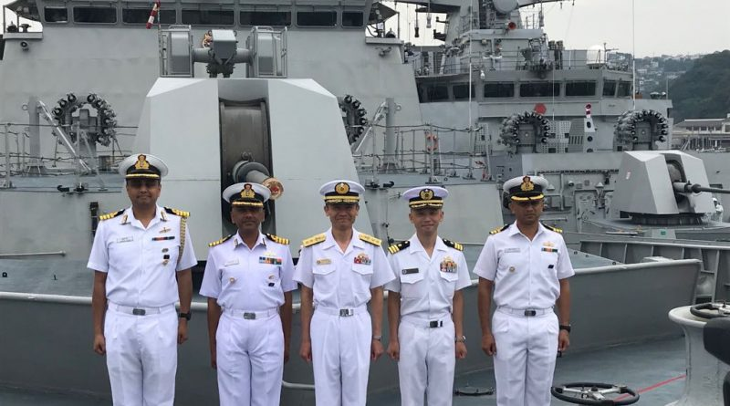 Indian Naval Ships Satpura and Kadmatt Visit Japan