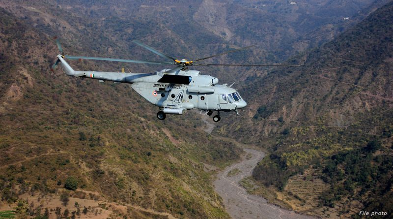 India Air Force Mi-17V5 Helicopter Crashed