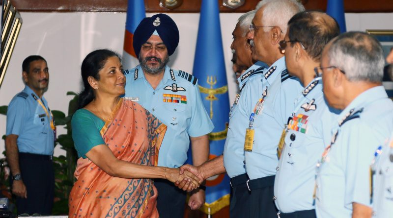 Nirmala Sitharaman Interacts with IAF Commanders During Air Force Commanders' Conference