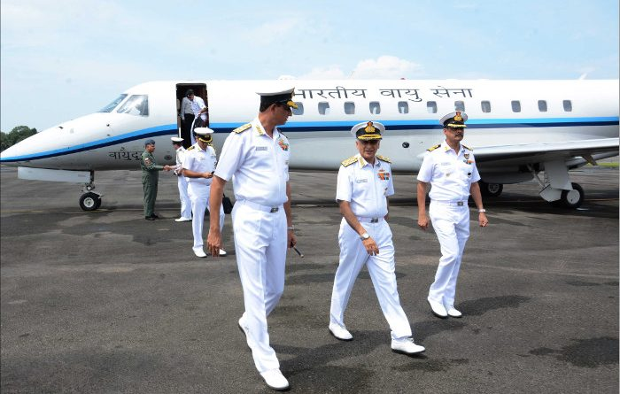 Chief of the Naval Staff Reviews Progress of IAC Vikrant