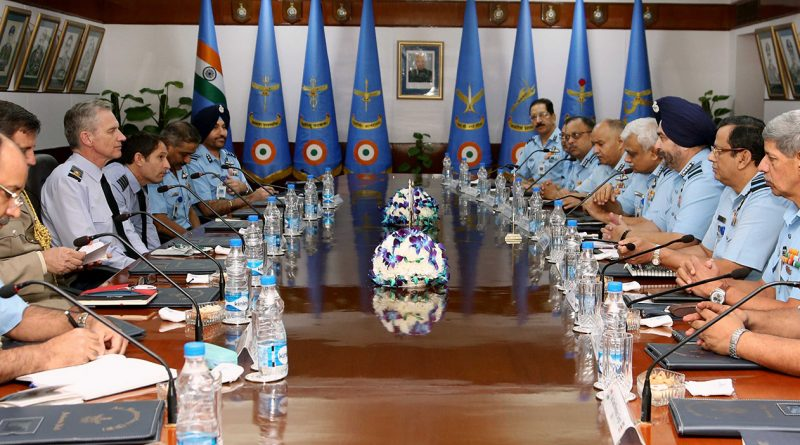 UK RAF Air Chief Marshal Sir Stephen John Hillier calls on ACM Dhanoa