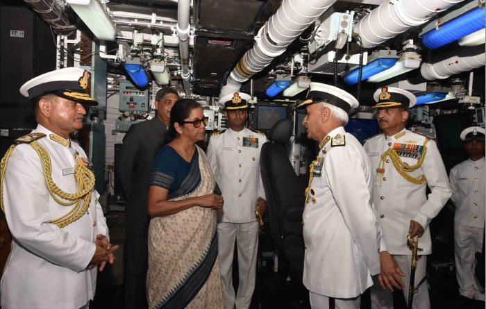 Defence Minister Nirmala Sitharaman Commissions ASW Stealth Corvette INS Kiltan