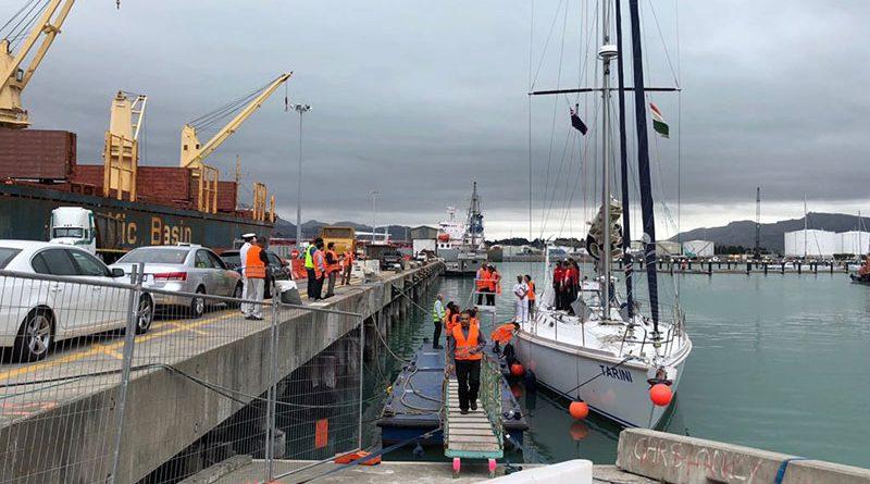 INSV Tarini departs From Lyttelton