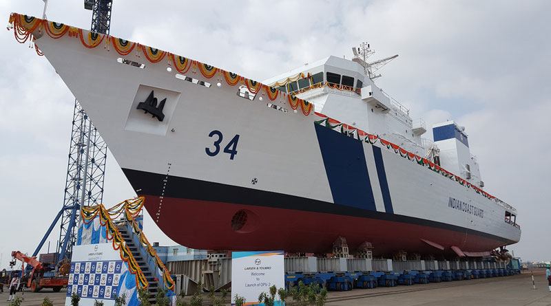 Larsen & Toubro Launches Second Offshore Patrol Vessel for Indian Coast Guard