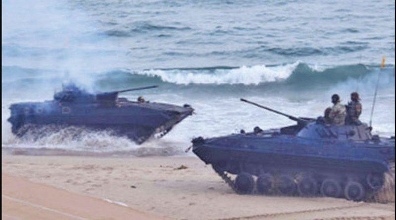 Naval Operational demonstration held at RK Beach, Visakhapatnam