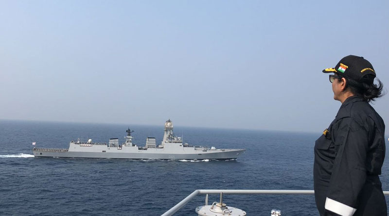 Nirmala Sitharaman reviewed the maritime prowess of the Indian Navy and presided over multiple complex naval operations