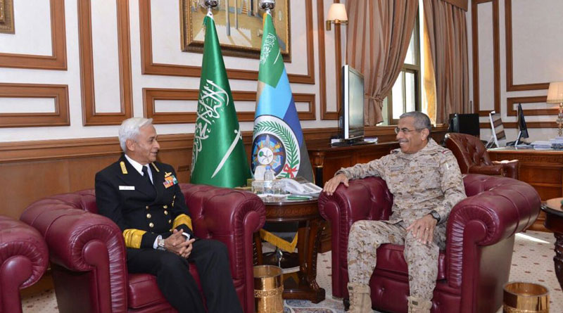 Admiral Sunil Lanba Visits Saudi Arabia For Consolidating Cooperation