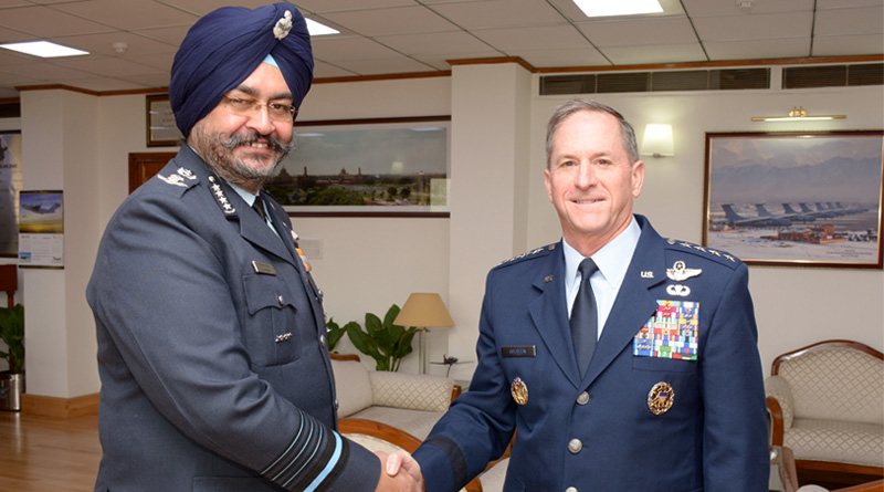 Chief of Staff of the US Air Force Meets Air Chief Marshal Dhanoa