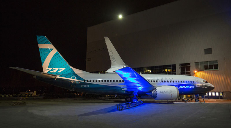Boeing Debuts First 737 MAX 7 Airplane