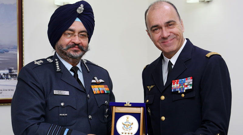 French Air Force Chief Meets Air Chief Marshal Dhanoa in Delhi