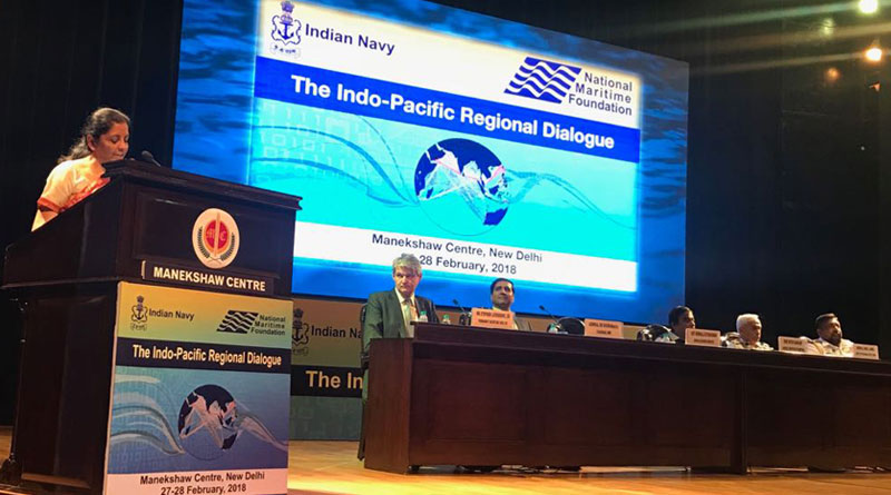 """""""We are not an Indian Ocean player alone (sic), we are talking of Indo-Pacific"""": Sitharaman"""