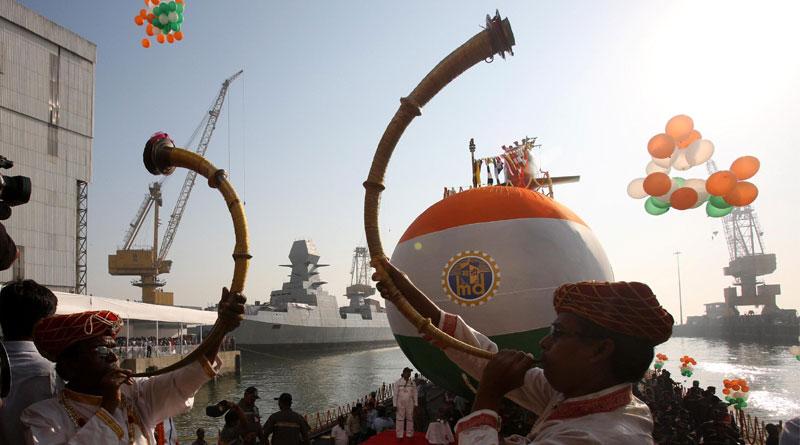 Third Scorpene Class Submarine Karanj Launched by Indian Navy
