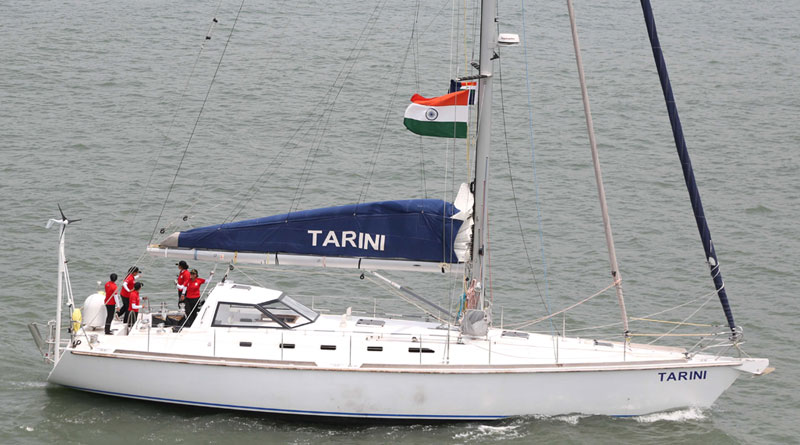 All Women Crew of INSV Tarini Departs from Port Stanley