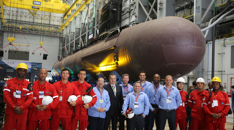 First Brazilian Navy Scorpene Submarine Takes Form