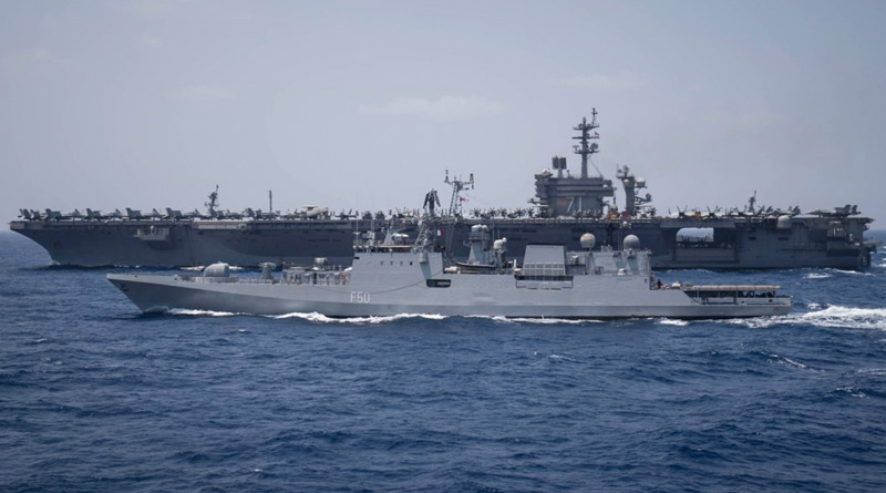 Theodore Roosevelt Carrier Strike Group Carries Out Exercise With Indian Navy