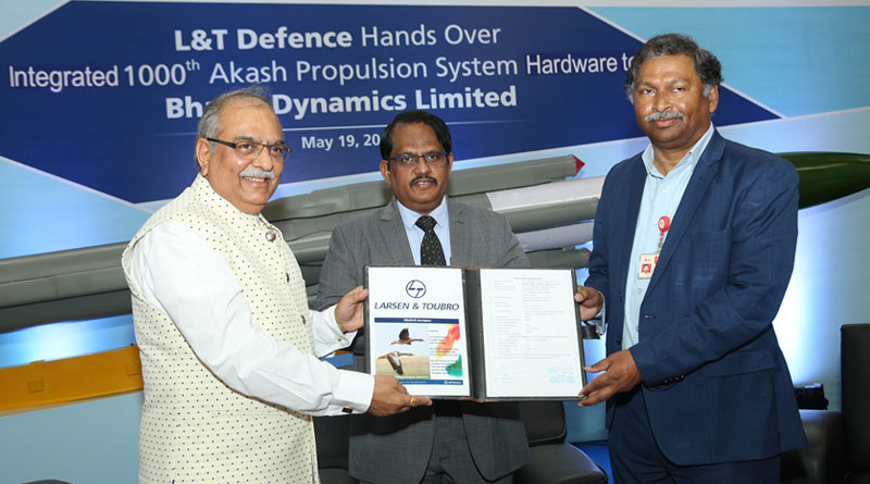 L&T Defence delivers 1,000th Integrated Propulsion Airframe System Hardware for Akash missiles