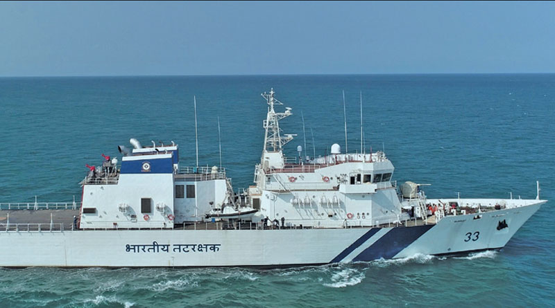 L&T Built Offshore Patrol Vessel Commissioned into Indian Coast Guard