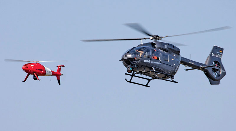Schiebel and Airbus Helicopters Demonstrates Manned Unmanned Teaming
