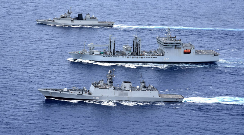 Exercise Malabar 2018 in Guam, Eastern Fleet Ships underway