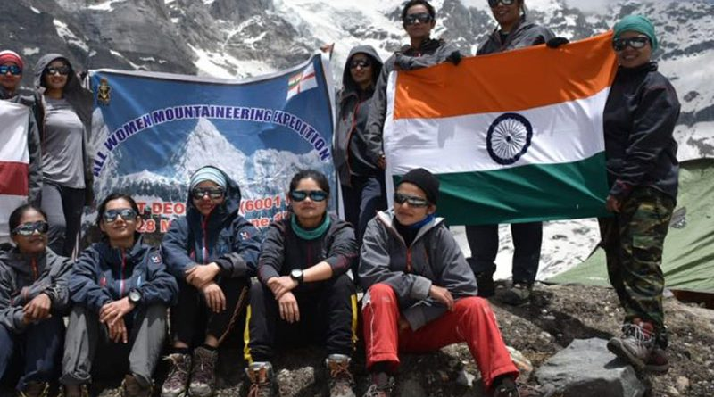 Indian Navy's All Women Mountaineers Summit Mount Deotibba