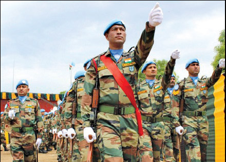 Indian peacekeepers awarded UN Peacekeeping Medal