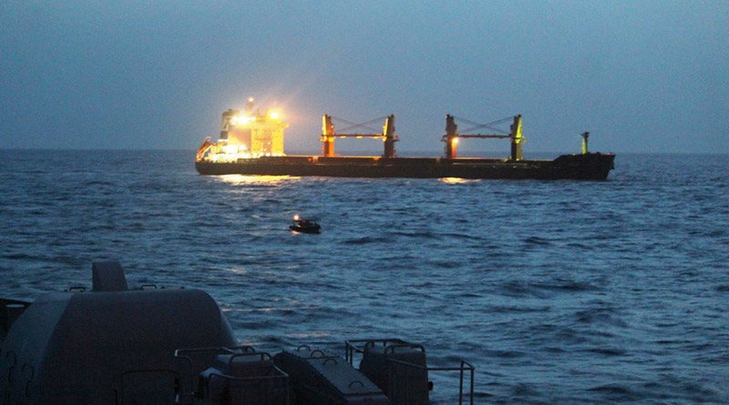 MV Vela Assisted by INS Teg in Gulf of Aden