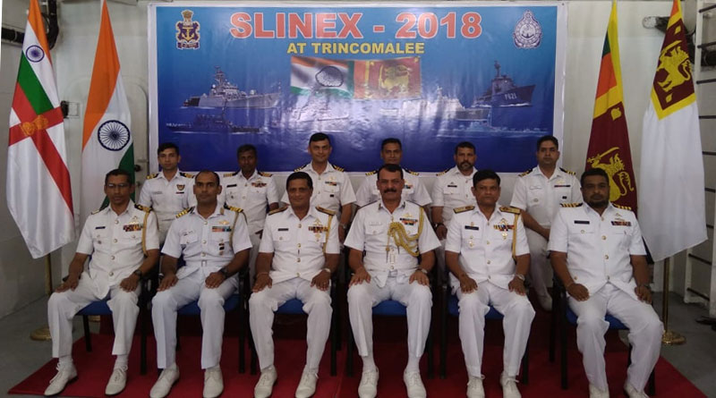 IN Ships in Sri Lanka for SLINEX-18