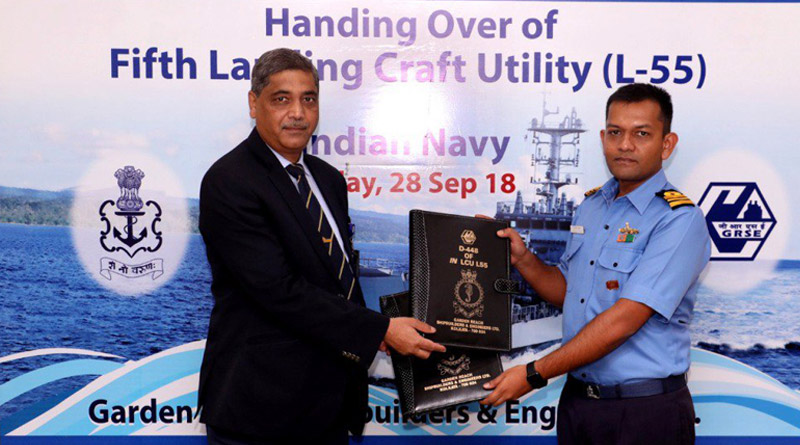 Indian Navy receives Sixth Warship from GRSE