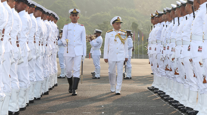 Flag Officer Commanding-in-Chief, Southern Naval Command Vice Admiral Anil Kumar Chawla reviewed the parade