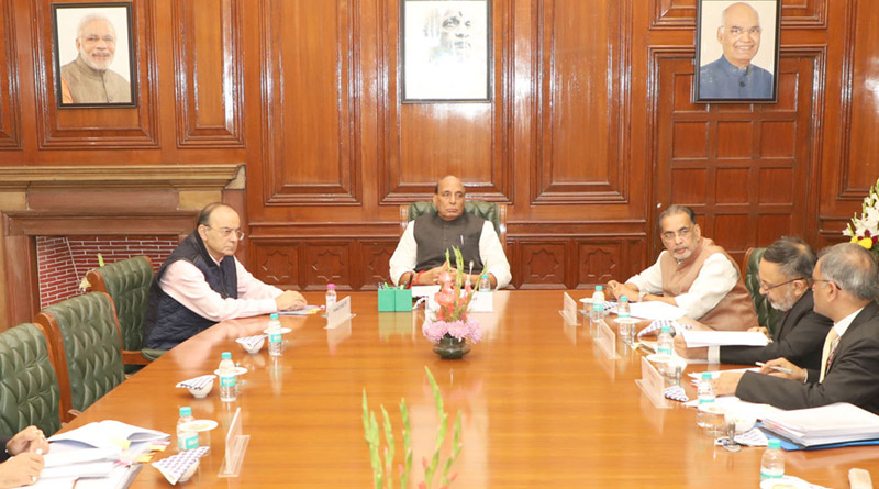 Chairing a high-level committee meeting at New Delhi