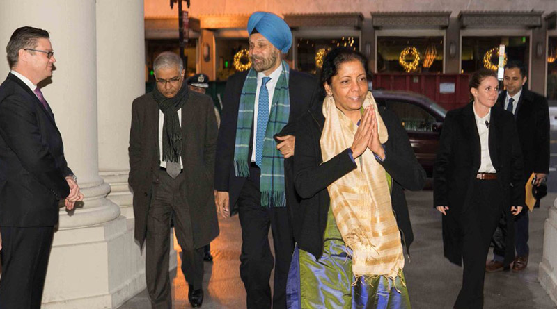 Sitharaman in US to Discuss New Defence Deals