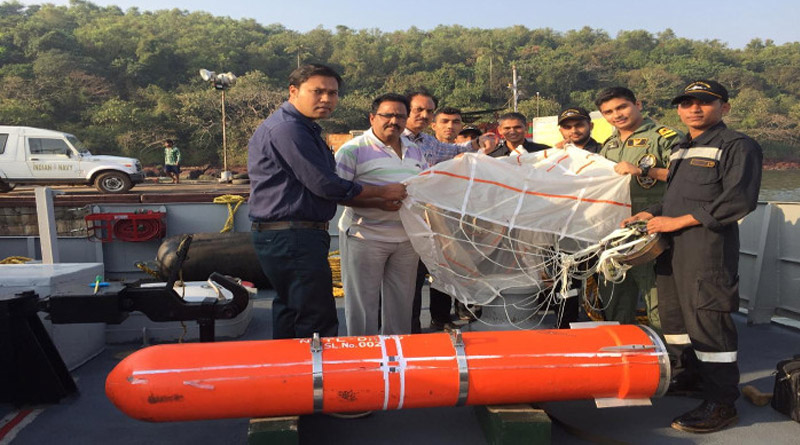 Indian Navy Tests Air-Dropped Containers