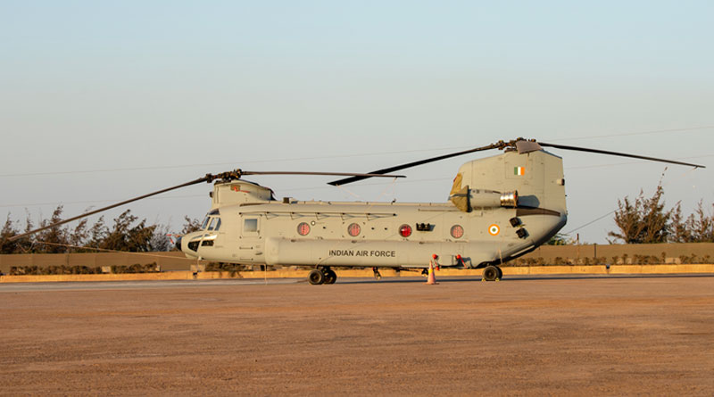 IAF Inducts First Four Boeing CH-47F(I) Chinook Helicopters