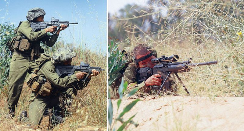 Tavor 21 and Galil sniper rifle
