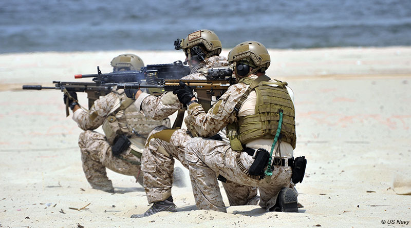 US Navy SEAL's during an exercise