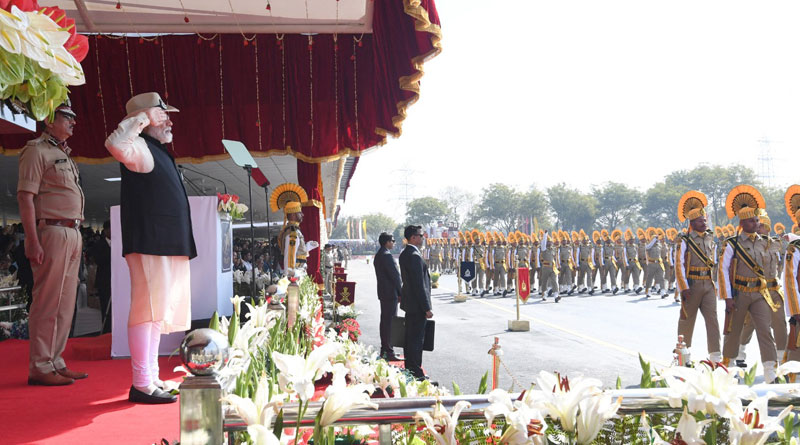 Prime Minister Narendra Modi attended the 50th Raising Day celebrations of Central Industrial Security Forces