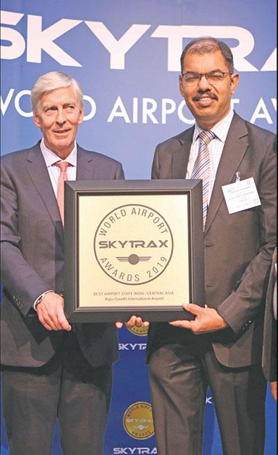 GMR led Hyderabad International Airport Wins Skytrax Awards