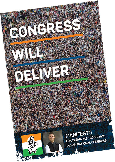 Indian National Congress Election Manifesto for 2019