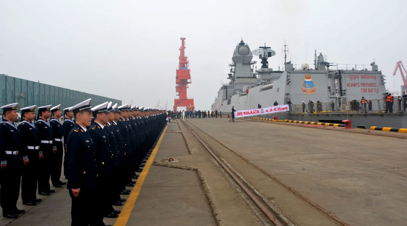 Indian Naval Assets arrive in China for International Fleet Review (IFR)