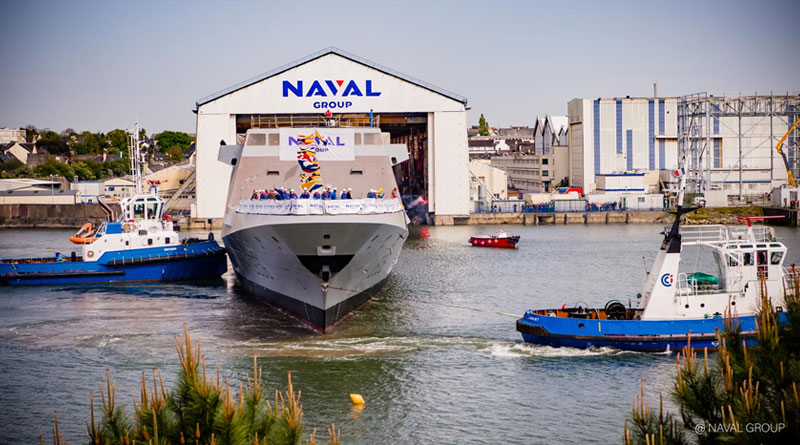 Ninth FREMM Frigate for the French Navy Launched in Lorient